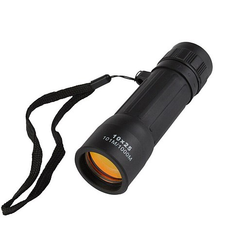 High Power 10x25 HD Telescopes BAK4 Night Vision Monocular with Cleaning Cloth and Storage Sling Home Decorative Telescopes