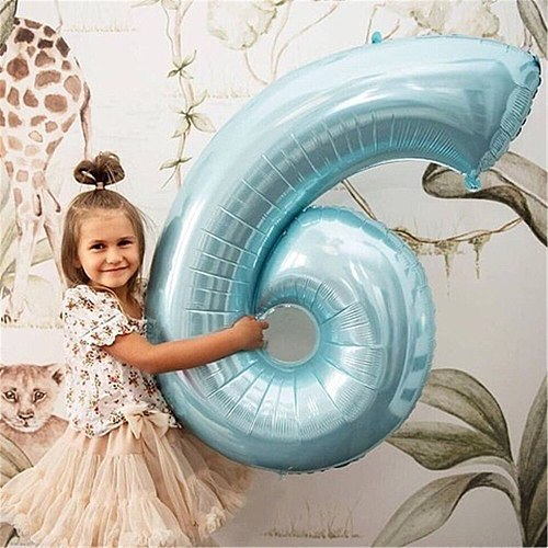Giant Size 40&42 Inch Blue/Pink Big Number Foil Balloons 0-9 Birthday Wedding Engagement Party Decor Globos Kids Ball Supplies