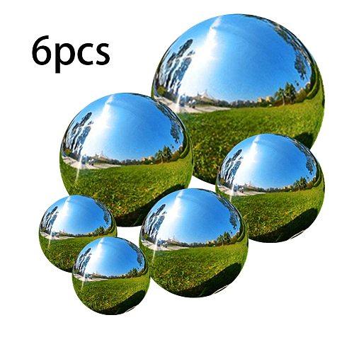 Gazing Ball Garden Sphere Ball Mirror Polished Hollow Ball Stainless Mirror Sphere Steel Home Garden Ornament Decoration