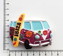 Creative fridge magnet, Ibiza Spain   tourist souvenirs beach wagon decorative arts and crafts