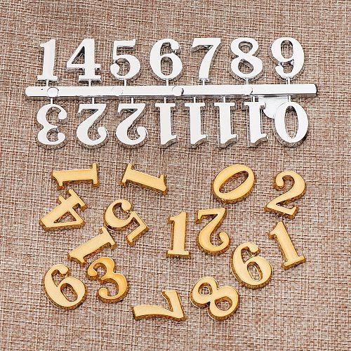 1 SET Arabic Number Bell Clock Numerals Clock Accessories Repair Clock Parts DIY Craft Digital Replacement Gadget For Home Decor
