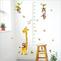Giraffe Growth Meter Measuring Height Wall Stickers height chart for Kids Rooms  Children's Room Classroom Decor removable