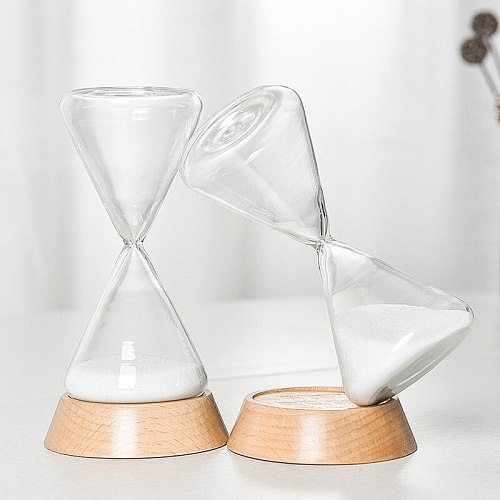 15/30 Minutes Timer Set Hourglass Sand Timer Creative  Sand Watch Clock Decorations Home Desktop Ornament