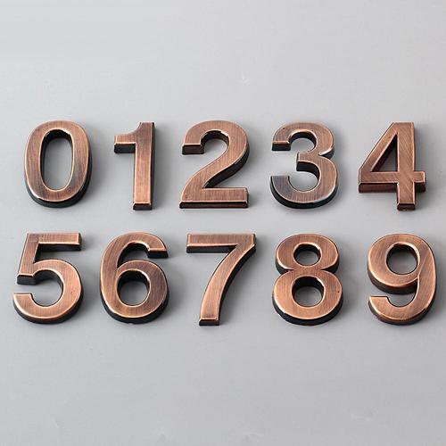 Plated Door Sign Door Address Digits 0-9 Number Address Plaque Door Number Digits Stickers Adress Sign Wedding Home Decor