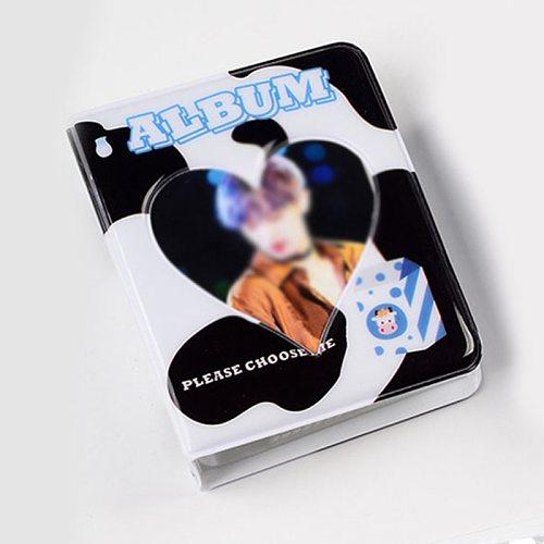 INS 3 Inches Mini Photo Album Cartoon Card Binder Name Card Book 64 Pockets Photocard Holder Plug-in Hollow Love Polaroid Album