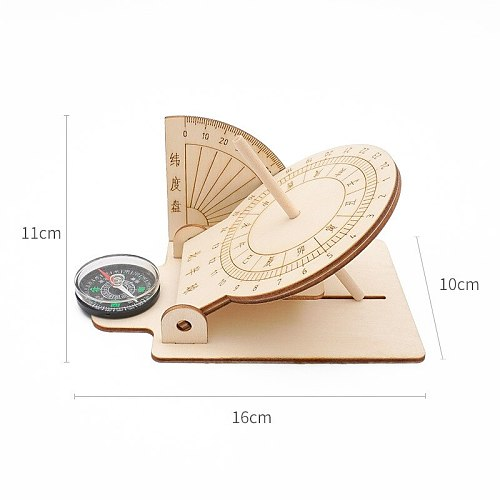 Sundial Toys DIY Souptoys Wooden Model Building Block Kits Assembly Toy Gift for Children Adult Dropship