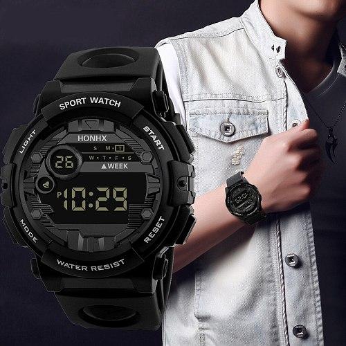 2021 Reloj Top Luxury Brand Analog Digital Led Watches Men Electronic Clock Men Military Sports Wrist Watch Relogio Masculino#W