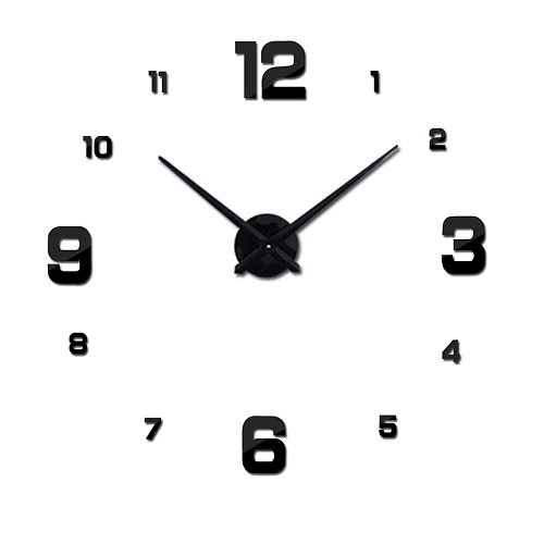 2021 free shipping new real metal 3d diy acrylic mirror wall clock watch clocks home decoration modern needle quartz stickers