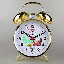 Bedroom Bedside Alarm Clock Playing Bells Single-sided Simple Modern Mechanical Copper Core Retro Old Metal Loudly Pointer