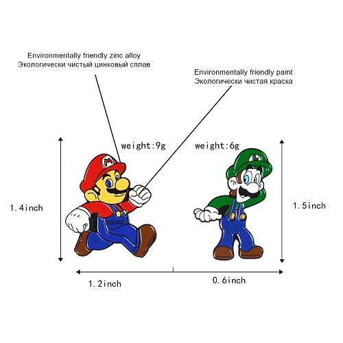 Blue Shell Mario Brooch Coat Shirt Badges Gift Alloy Enamel Pin Broches for Men Women Badge Pines Brooches Jewelry Accessories