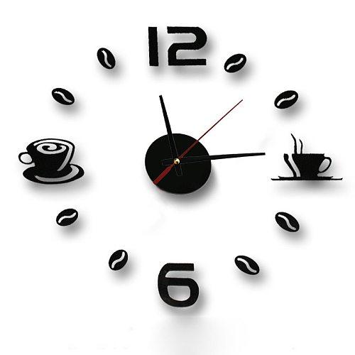 New Hot Clock Watch Wall Clocks Horloge 3d Diy Acrylic Mirror Stickers Home Decoration Living Room Quartz Needle reloj de pared