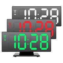 Digital Alarm Clock LED Mirror Clock Multifunction Snooze Display Time Night LCD Light Table Desktop USB Cable dropshipping
