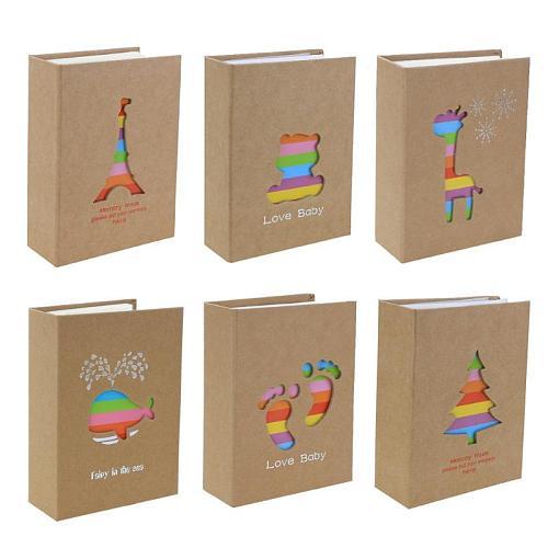 100 Pockets 6 inch Cartoon Photo Album Picture Storage Scrapbooking Picture Case Photo Album Frame for Kids Children Gift