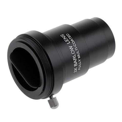 1.25inch Barlow Lens 3X Telescope Eyepiece Astronomy Moon Planet Deep Sky Nebula Surface Detail Observation Tool Kit