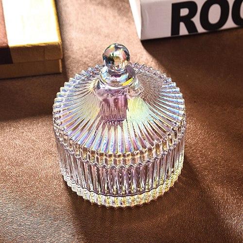Candle Jar Glass bottle Crystal Candy Jewelry Box Rangement Storage containers Jars Sugar косметикаконтейнер для хранения банка