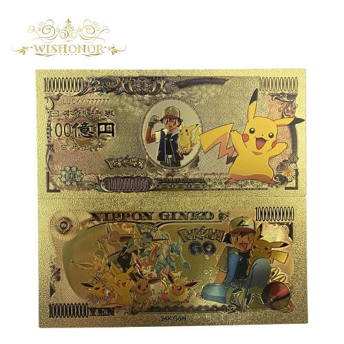 10pcs/lot New Lucky 777777 Anime Banknote Japan Anime 10,000 Yen Gold Banknote for Collection
