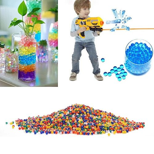 50000pcs Colourful Water Crystal Mud Growing Balls Beads for Plants Flowers Vase Filler Home Party Potted Decoration