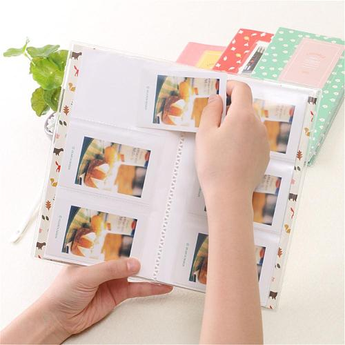 84 Photos 3 Inch Pictures Mini Birds and Flowers Portable Inserted Beautiful Photo Album for Fujifilm Polaroid Instax