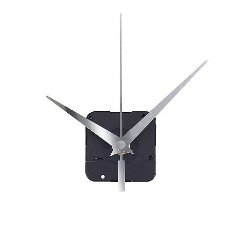 Silent Wall Clock Mechanism Quartz Movement Machine Silver Hands Repair Kit Tool Replace Set With Hook