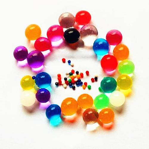 100pcs/bag Pearl Shaped Crystal Soil Water Beads Mud Grow Magic Jelly Balls Kids Children Toy Wedding Decoration Home Ornament