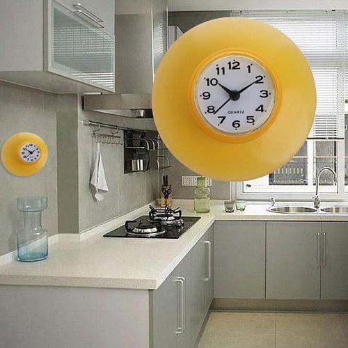 new style Bathroom Kitchen Waterproof Sucker Clock Shower Booth Powerful Adhered Fashion home sucker clock