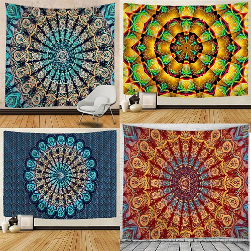 Mandala Tapestry Hippie Macrame Tapestry Wall Hanging Boho Decor  Witchcraft Tapestry