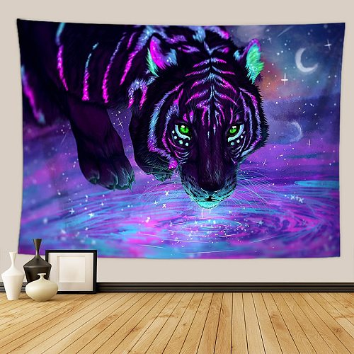 Animal Tapestry Wall Hanging  Witchcraft Tapestry Hippie Dormitory Decoration Psychedelic Wall Tapestry Macrame Mandala Tapestry