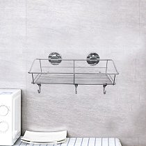 Bathroom Rack Strong Suction Cup Stainless Steel Sponge Holder Drainer Rack Cleaning Cloth Shelf For Bath Kitchen Accessories