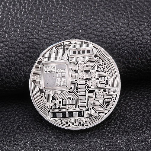 1pc Collection Coin Bitcoin Gold Plated Bronze Physical Casascius Bit Coin BTC New Year Gift Non-currency Diameter 40mm
