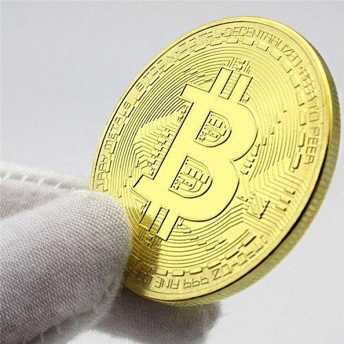 Gold Plated Bitcoin Coin Collectible Gift Casascius Bit Coin BTC Coin Art Collection Physical Gold Commemorative Coins