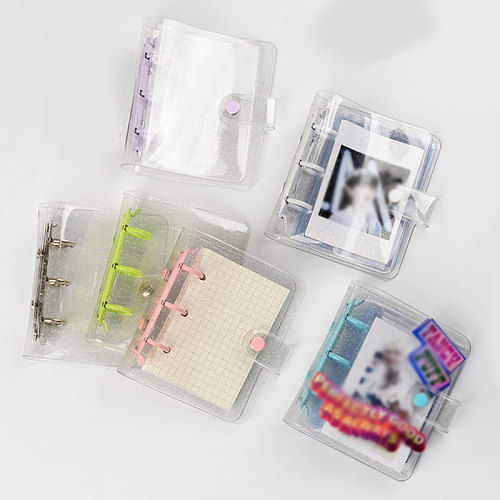 3inch Kawaii Photo Organizer Binder Cover Photo Album Cover Notebook Cover Binder School Stationery Loose-leaf Shell Mini Pocket