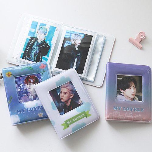 Colorful Album Clear Pockets Holds 36 Mini Photos Instax Photo Album for Fuji Instax & Name Card 7s 8 25 50s Mini Photo Album