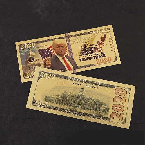 10pcs US All Aboard The Trump Train Commemorative Coin President Banknote Non-currency 2020