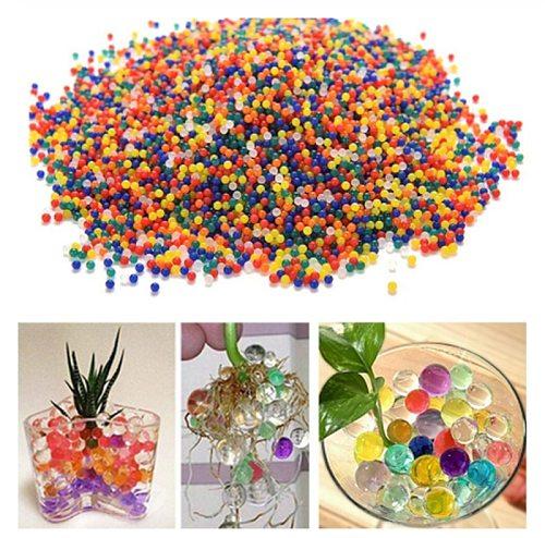400 Pcs/bag Crystal Soil Hydrogel Gel Polymer Water Beads Flower Polymer Growing Water Balls Big Home Decor Wedding Decoration