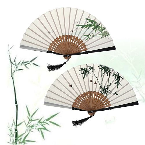 Chinese Style Vintage Summer Bamboo Folding Fan Hand Held Fan Dance Wedding Party Decor Pocket Gifts Drop Ship
