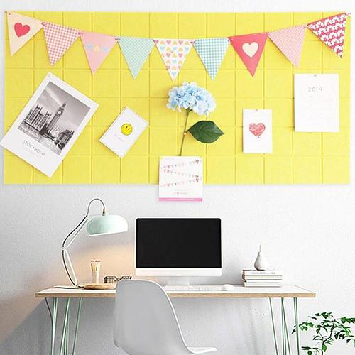 Grid Style Felt Wall Decoration Letter Note Board Message Board Home Decor for Office Planner Schedule Board Photo Display