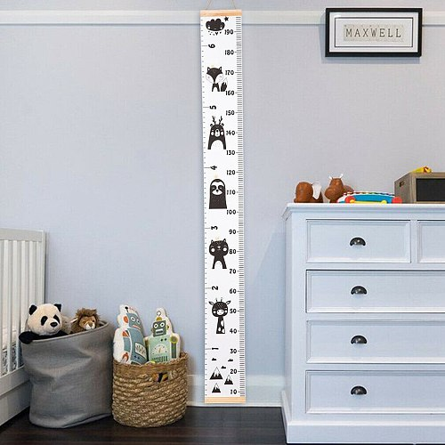 Wooden Wall Hanging Baby Height Measure Ruler Wall Sticker Decorative Props Child Kids Growth Chart for Bedroom Home Decoration