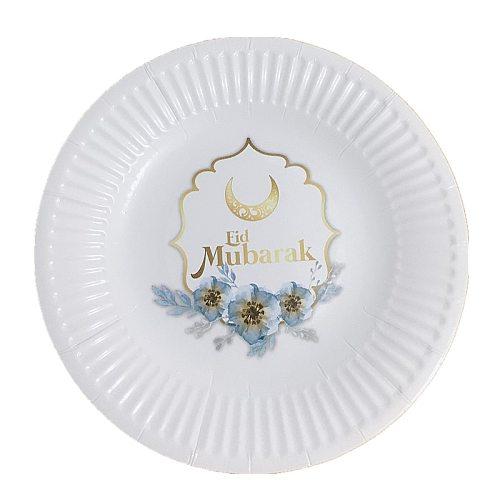 EID MUBARAK Cup&plate Ramadan Kareem With Eid Ramadan Banner Home Decoration Islam Element Balloon Kit Moon&Star Mosque