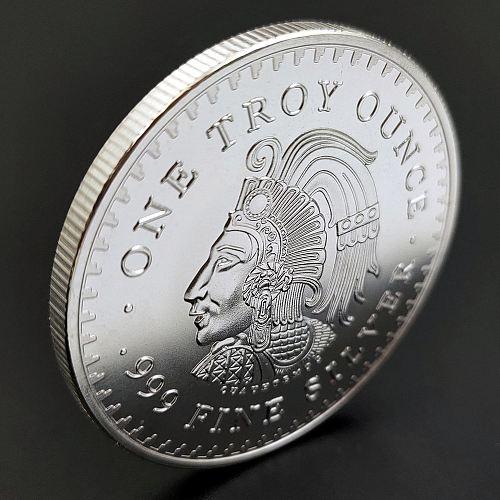 2 Pcs Mexico Coin Souvenir Coins Commemorative Coin Silver Core Collection Coins Maya Memorial Coin Foreign Non-currency Coins