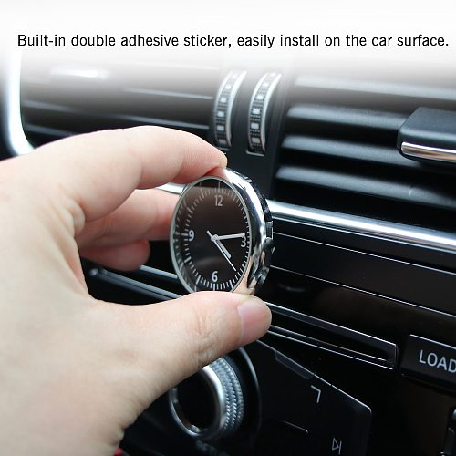 1pc Car Clock Stainless Steel Electronic Watch LCD Screen Large Digital LCD Display Digital With Self-Adhesive Car Accessories