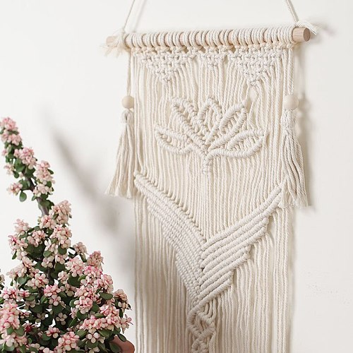 Nordic Tapestry Macrame Boho Bohemian Chic Wall Hanging  Decoration Cotton Woven Art Aesthetic Room Decor Ornaments