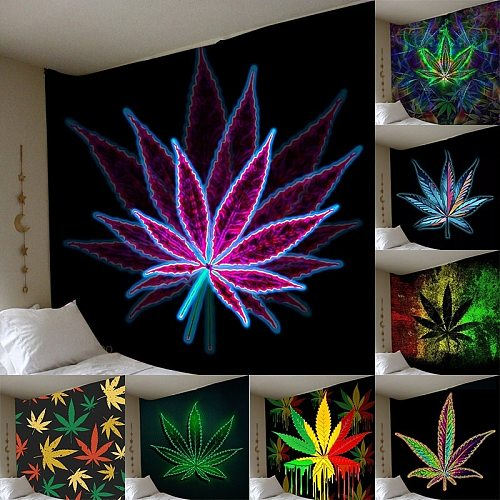 New 3D Print Maple Leaf Wall Hanging Tapestry Bedroom Decor Home Decor Wall Tapestry Hippie Decoration for Bedroom Tapiz Pared
