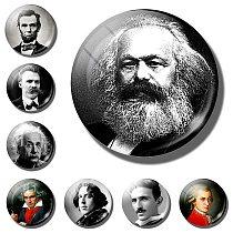 Karl Marx Philosopher Revolutionary Socialism Marxism Economics Famous People refrigerator magnets Abraham fridge magnet