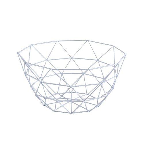 Fruit Basket Container Bowl Metal Wire Basket Kitchen Rack Table Storage Holder Bowl Fruit Tray Storage Vegetable Drain Sna Z2S4