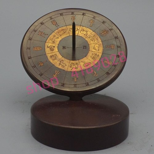 Pure red copper, sundial / sundial compass