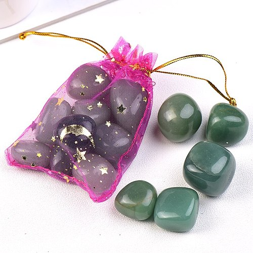 1PC Natural Aventurine Chalcedony Size Of the Particles Tumbled Stones Mineral Specimens Suitable For Aquarium Home Decor Crafts