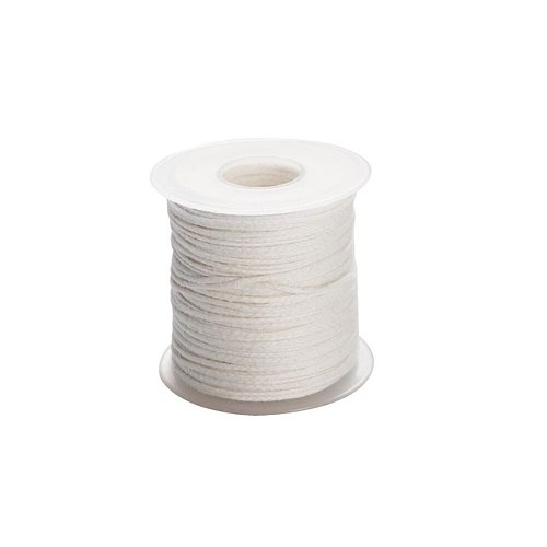 Candle Making Supplies 1Pc 61m Cotton Braid Candle Wick Core + 100PCS Metal Candle Wick Sustainer Tab DIY Candle Accessories