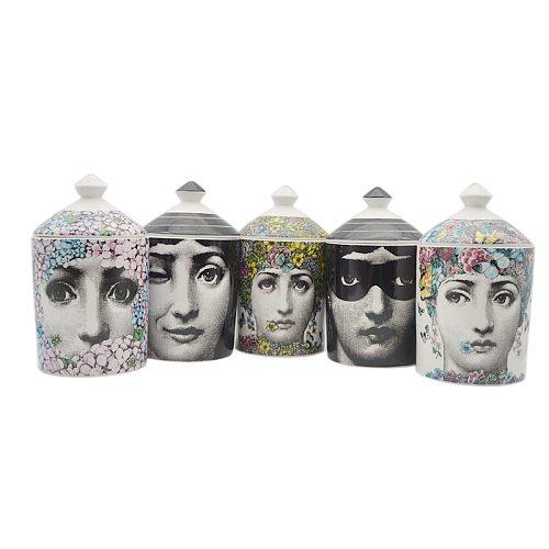 Female Portrait Jar Diy Empty Candle Holder Beauty Dressing Brush Pen Box with Lid Ceramic Storage Tin Flower and Face Bottle