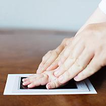 Baby Decorative Growth Charts Newborn Baby Handprint Footprint Touch Ink Pad Photo Birthday Souvenir Casting DIY Toy Crafts 2020