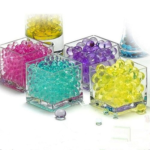 Bubble big beads water gun marbles garden cultivation substrate nutrient soil water-absorbing crystal mud 100 tablets / bag